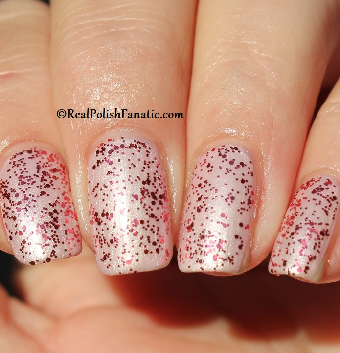 OPI - Dream In Glitter over A Hush of Blush -- OPI Hello Kitty 2019 Holiday Collection - Glitter Trio (21)