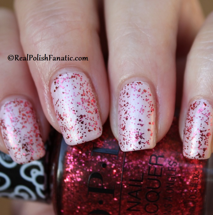 OPI - Dream In Glitter over A Hush of Blush -- OPI Hello Kitty 2019 Holiday Collection - Glitter Trio (25)