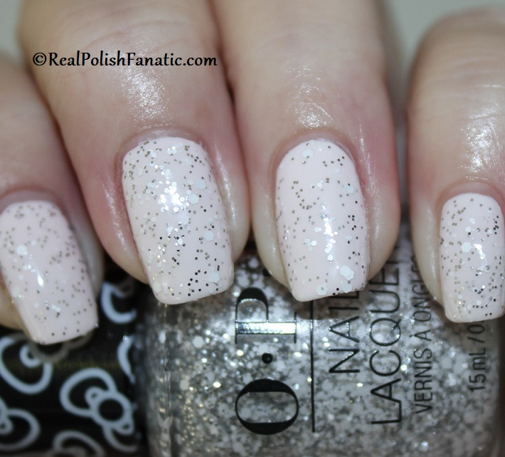 OPI - Glitter to My Heart over Let's Be Friends -- OPI Hello Kitty 2019 Holiday Collection (4)