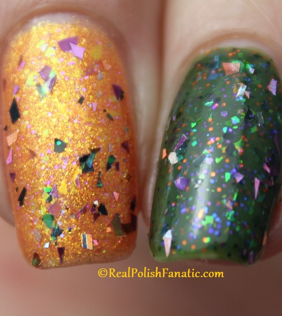 Polish M A Hair Raising Good Time over Polish M Creepin It Real & China Glaze Ernie Your Stripes (3)