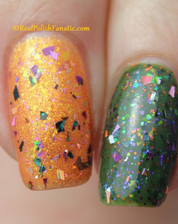 Polish M A Hair Raising Good Time over Polish M Creepin It Real & China Glaze Ernie Your Stripes (4)