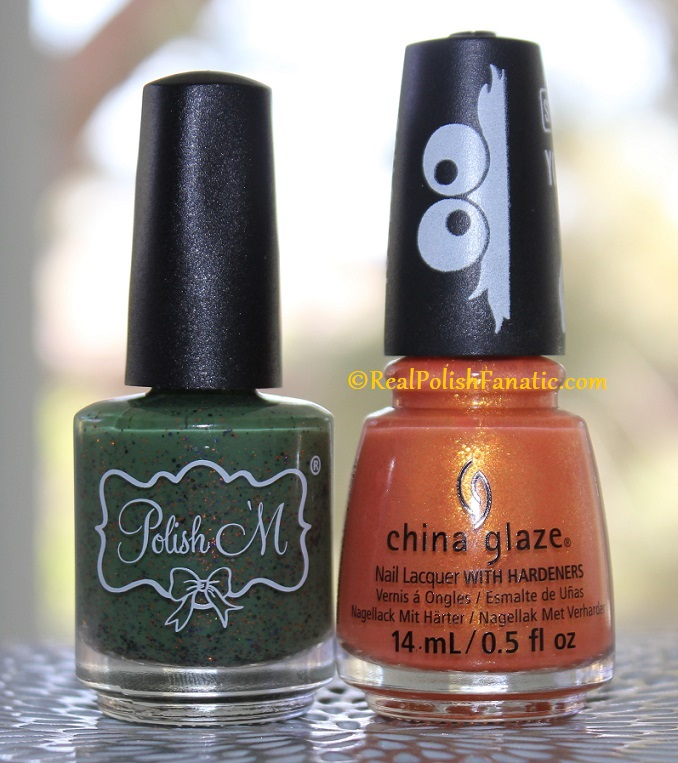 Polish M Creepin It Real & China Glaze Ernie Your Stripes (1)
