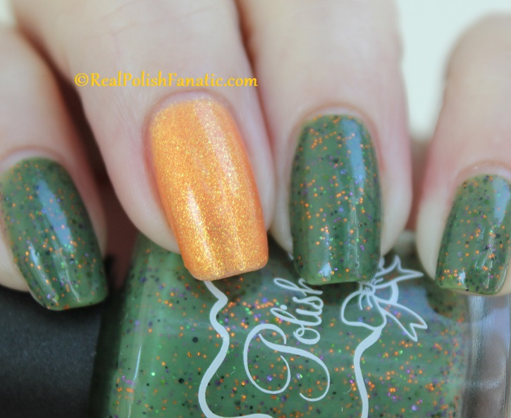 Polish M Creepin It Real & China Glaze Ernie Your Stripes (15)