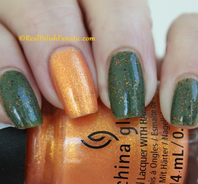 Polish M Creepin It Real & China Glaze Ernie Your Stripes (16)