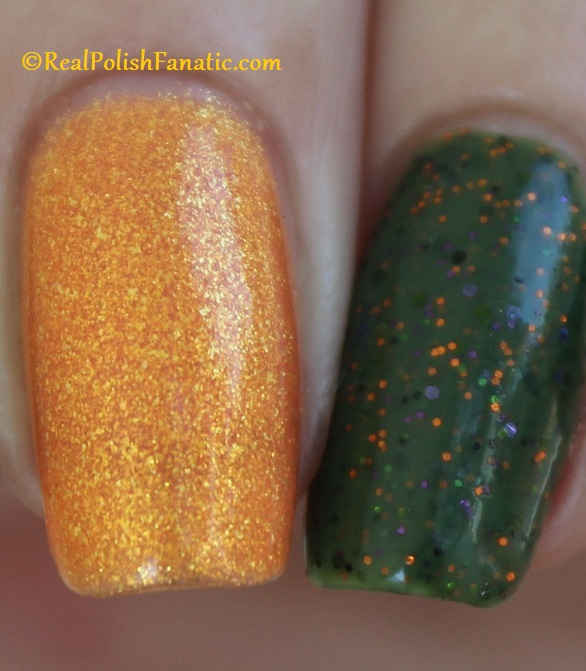 Polish M Creepin It Real & China Glaze Ernie Your Stripes (17)