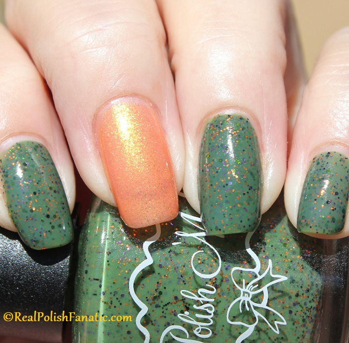 Polish M Creepin It Real & China Glaze Ernie Your Stripes (19)