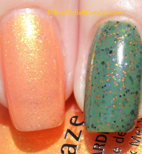 Polish M Creepin It Real & China Glaze Ernie Your Stripes (21)
