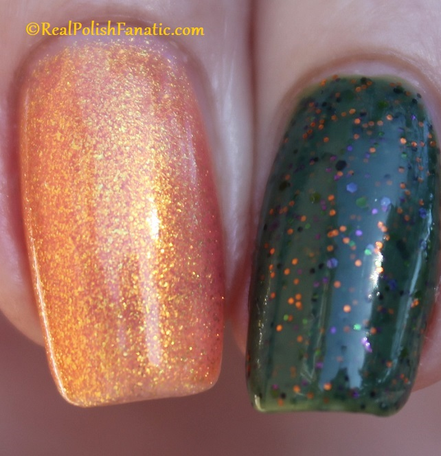Polish M Creepin It Real & China Glaze Ernie Your Stripes (25)