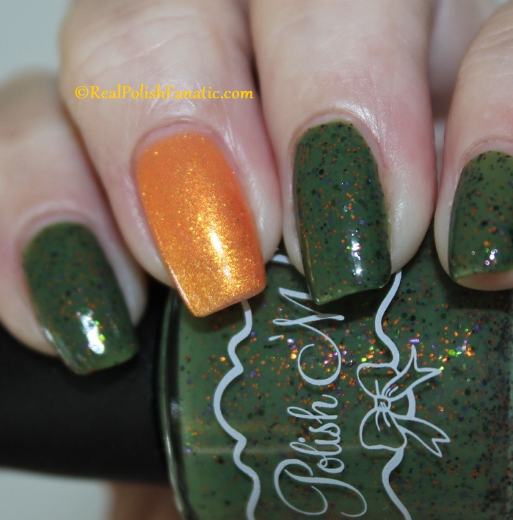 Polish M Creepin It Real & China Glaze Ernie Your Stripes (3)
