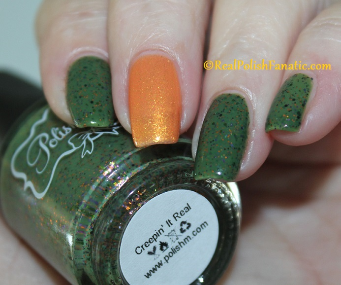 Polish M Creepin It Real & China Glaze Ernie Your Stripes (4)