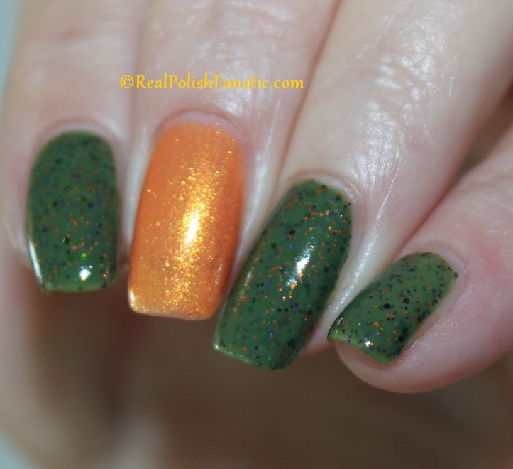 Polish M Creepin It Real & China Glaze Ernie Your Stripes (5)