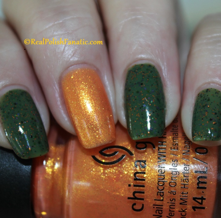 Polish M Creepin It Real & China Glaze Ernie Your Stripes (7)